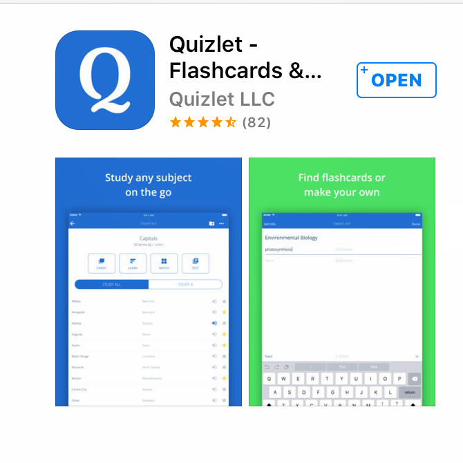 Study your vocabulary? There's an app for that!